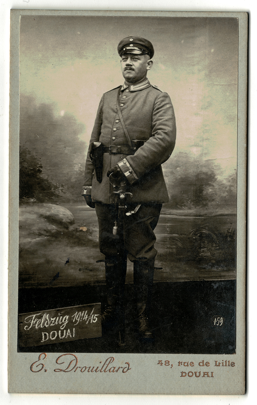CDV Soldat Allemand / Douai / Guerre 14/18 / Uniforme / Garde Regiment 3eme / Lieutenant