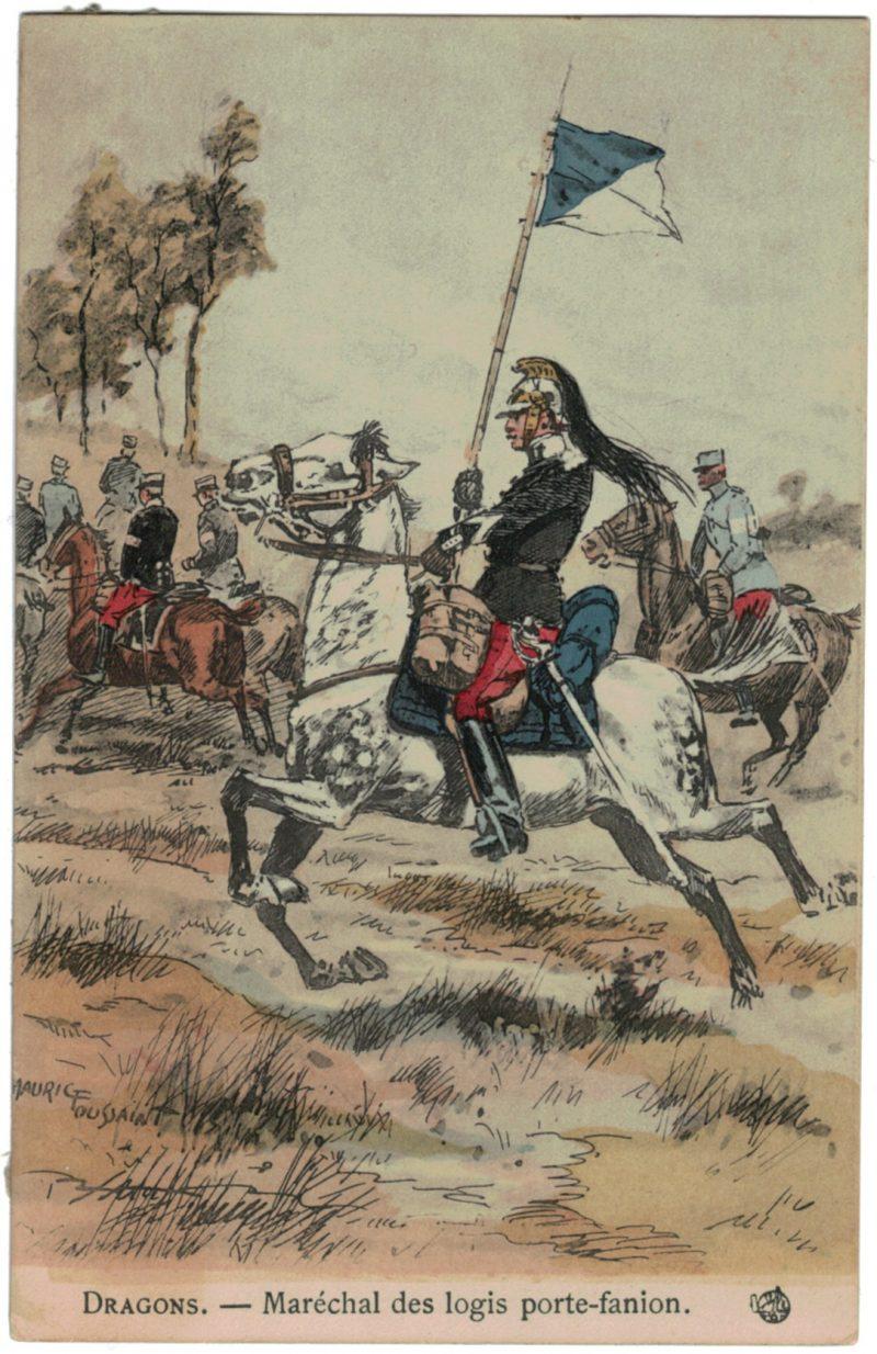 Série 8 Cartes Postale - Maurice Toussaint - Dragons 14/18 - Uniforme - 3ème République - Cavalerie
