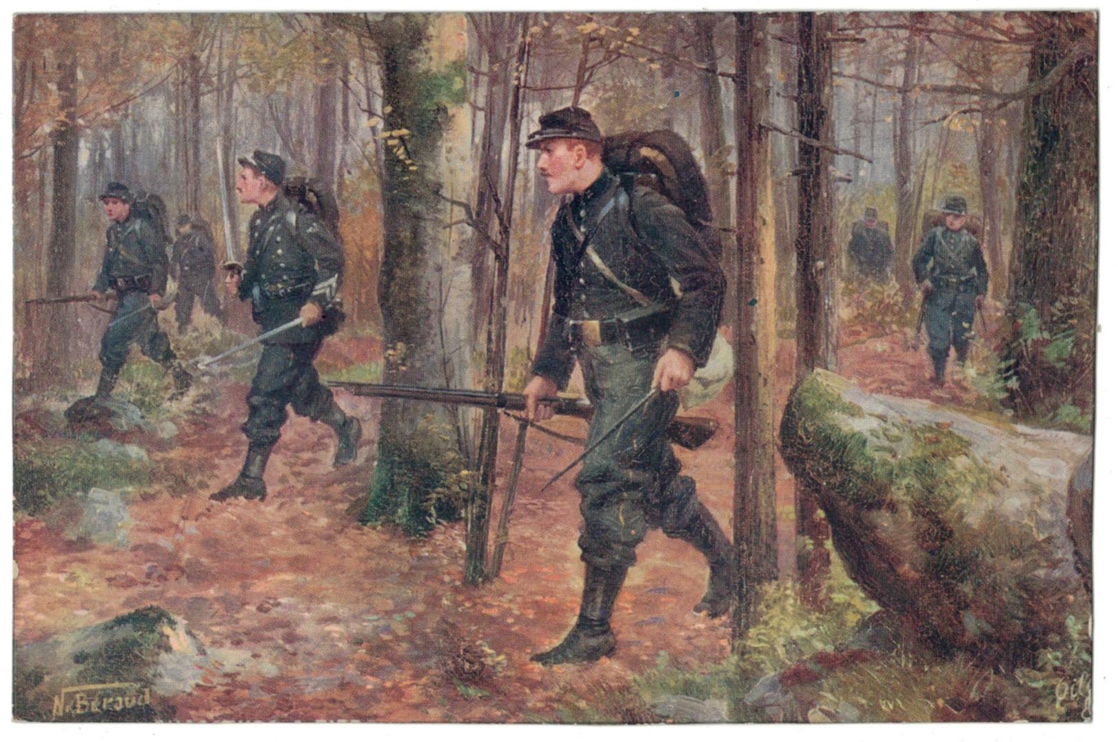1 Carte Postale - Armée Française en campagne - 14/18 - Uniforme - Bivouac - Chasseurs à Pied - Editions Tuck