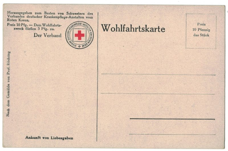Série 7 Cartes Postale - Armée Allemande en campagne - 14/18 - Uniforme - Bivouac - Croix Rouge - Roten Kreuz