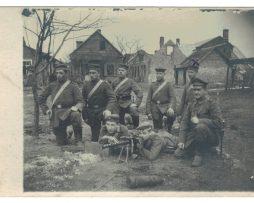 Carte photo Compagnie de Mitrailleuse Front de l'est 1918 - Allemagne - Alsacien - Russland 10 avril 1918 - Jacobstadt