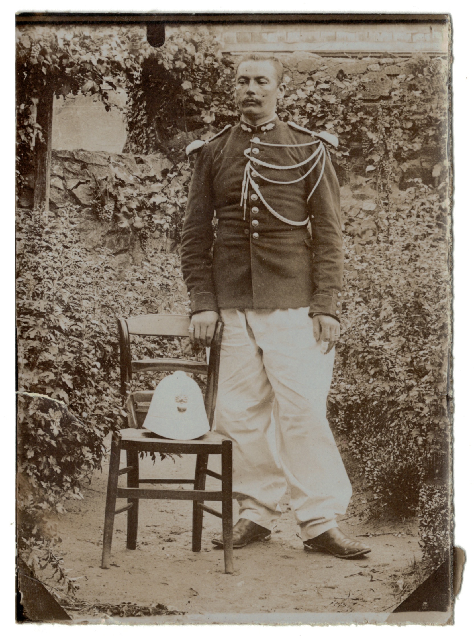 Photo papier originale - Gendarmerie - Orient - Coloniale - Fourragère - 1898 / 1900