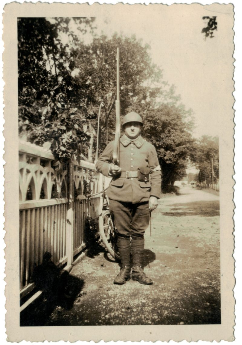 2 Photos papier originale - Infanterie - 1940 - Territorial - Uniforme - France - Snapshot - Famille