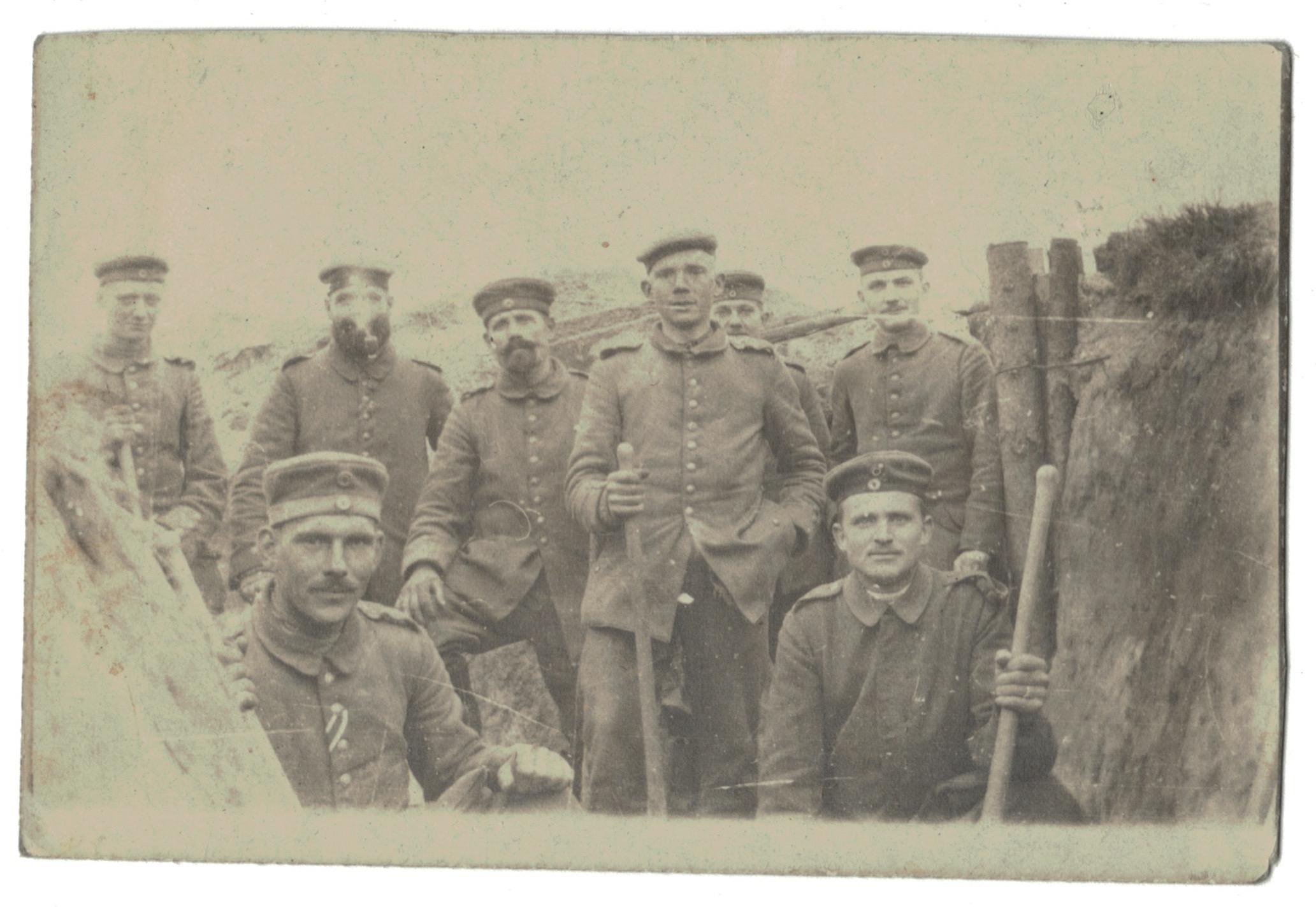 Photo papier originale - Infanterie 14/18 - Allemagne - Tranchée - Front