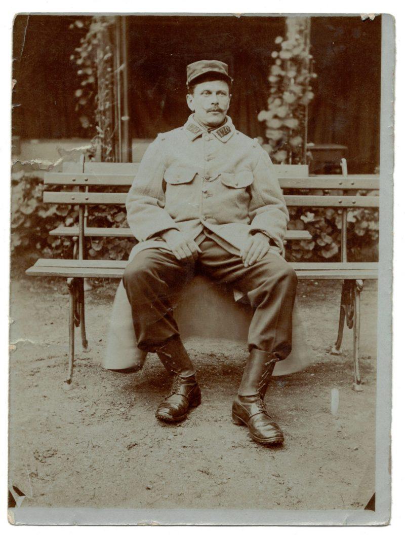 Photo papier originale - Infanterie - 170ème Régiment - Guerre 14 / 18 - Territorial - France