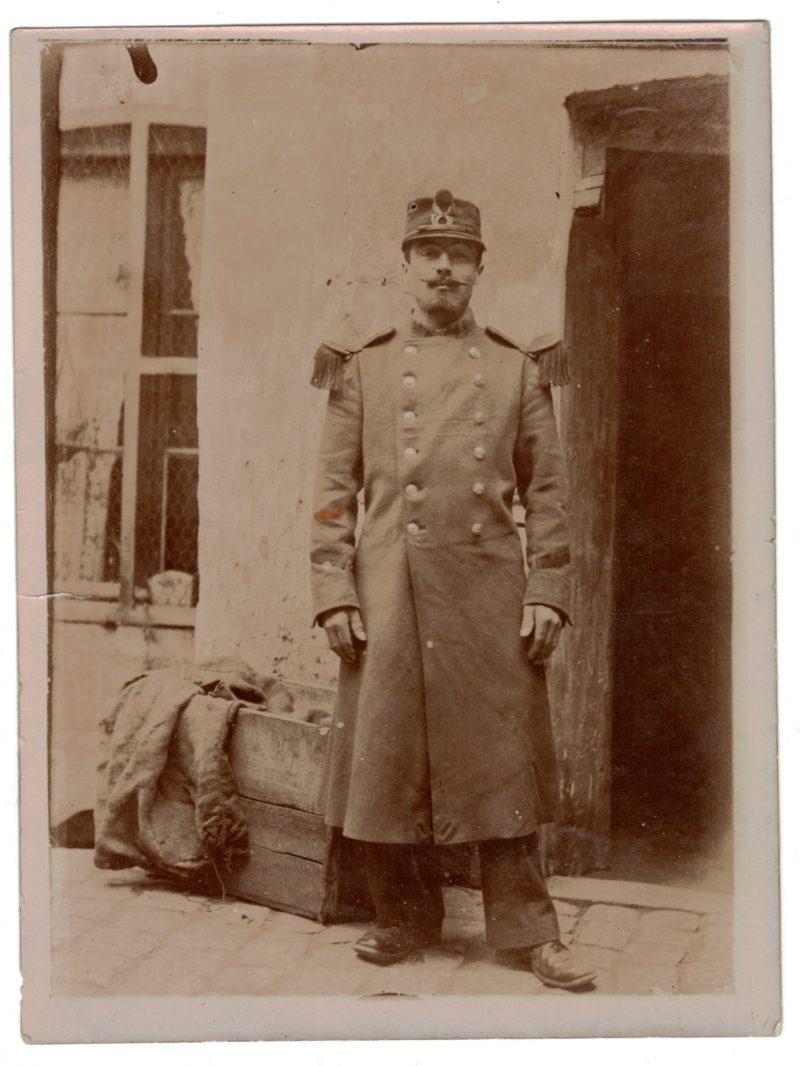 Photo papier originale - Infanterie / Chasseur - 1898 / 1900 - Uniforme - 3èm République - France