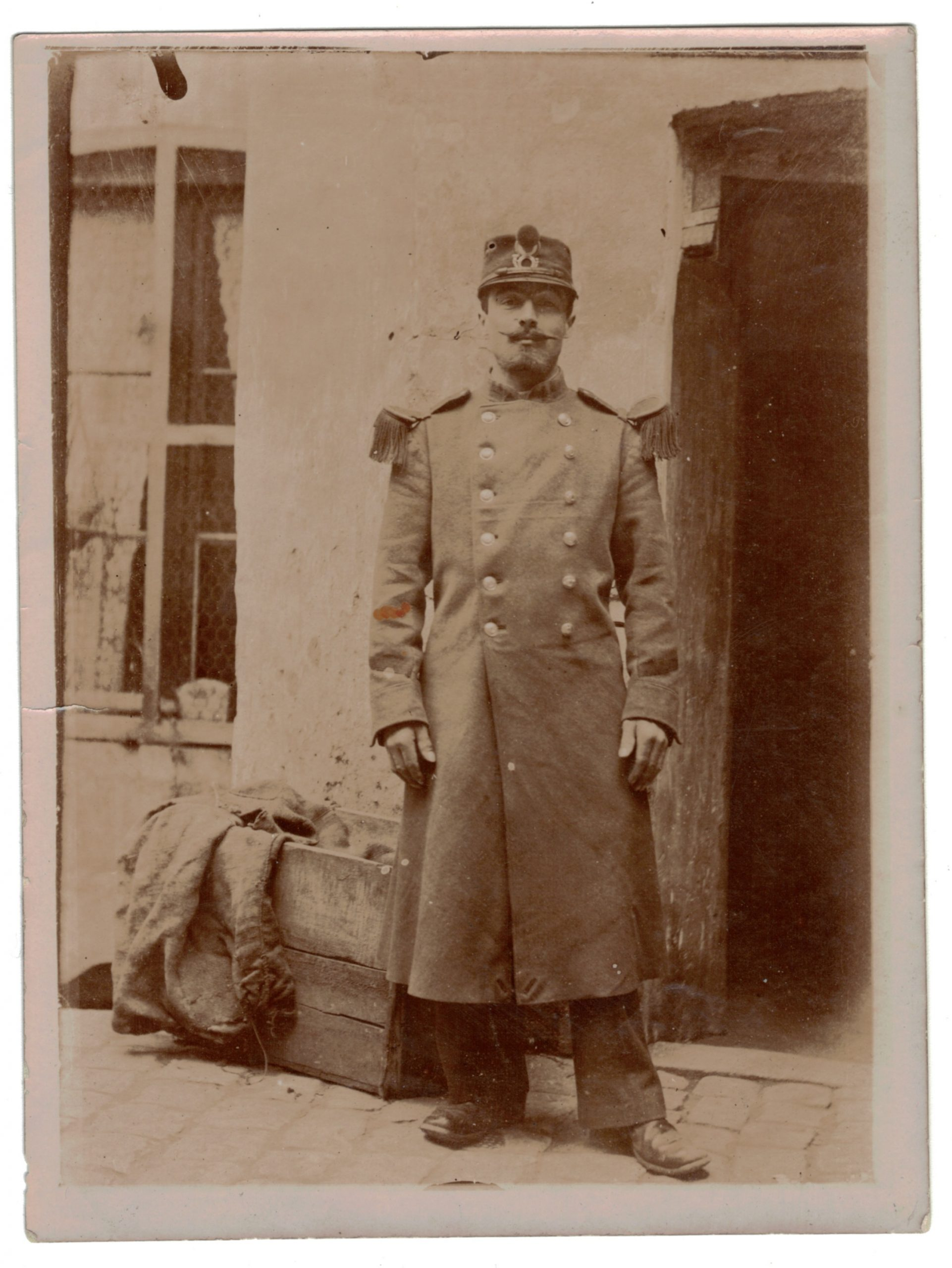 Photo papier originale - Infanterie / Chasseur - 1898 / 1900 - Uniforme - 3èm République - France