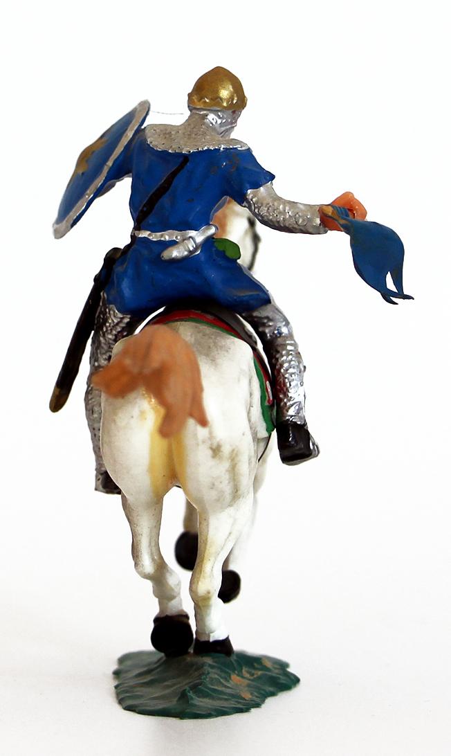 Ancienne Figurine Hausser Elastolin German plastic Cavalier Elastolin Horse Attacking