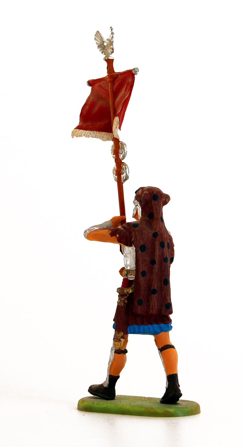 Ancienne Figurine Hausser Elastolin German plastic Romain Enseigne