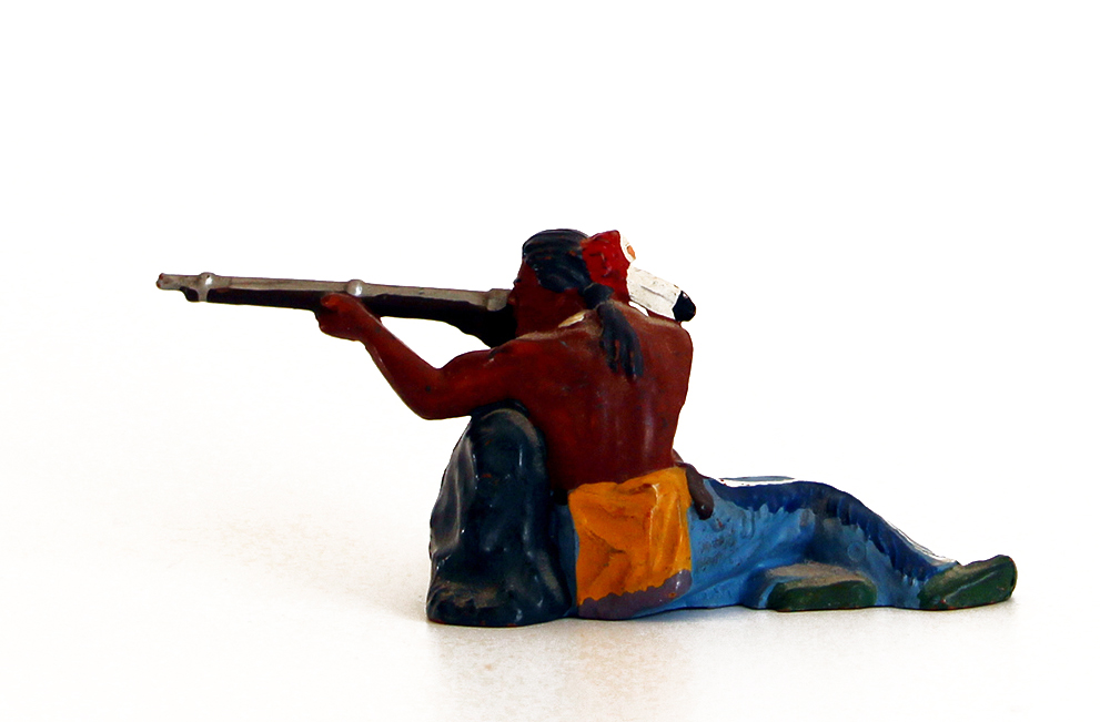 Ancienne Figurine Hausser Elastolin German plastic Indien Far West