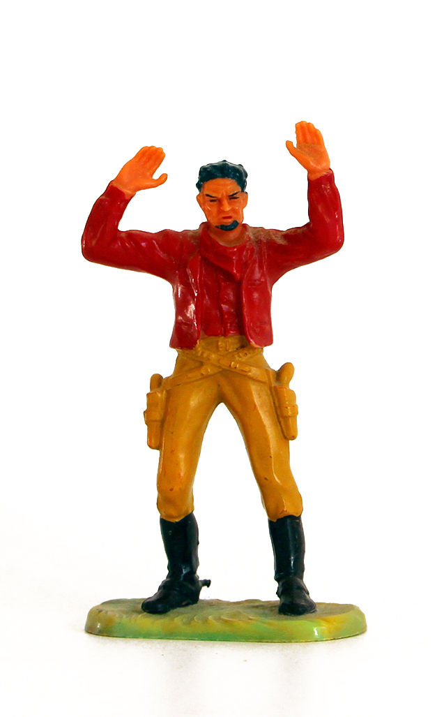 Ancienne Figurine Hausser Elastolin German plastic Cowboy Far West