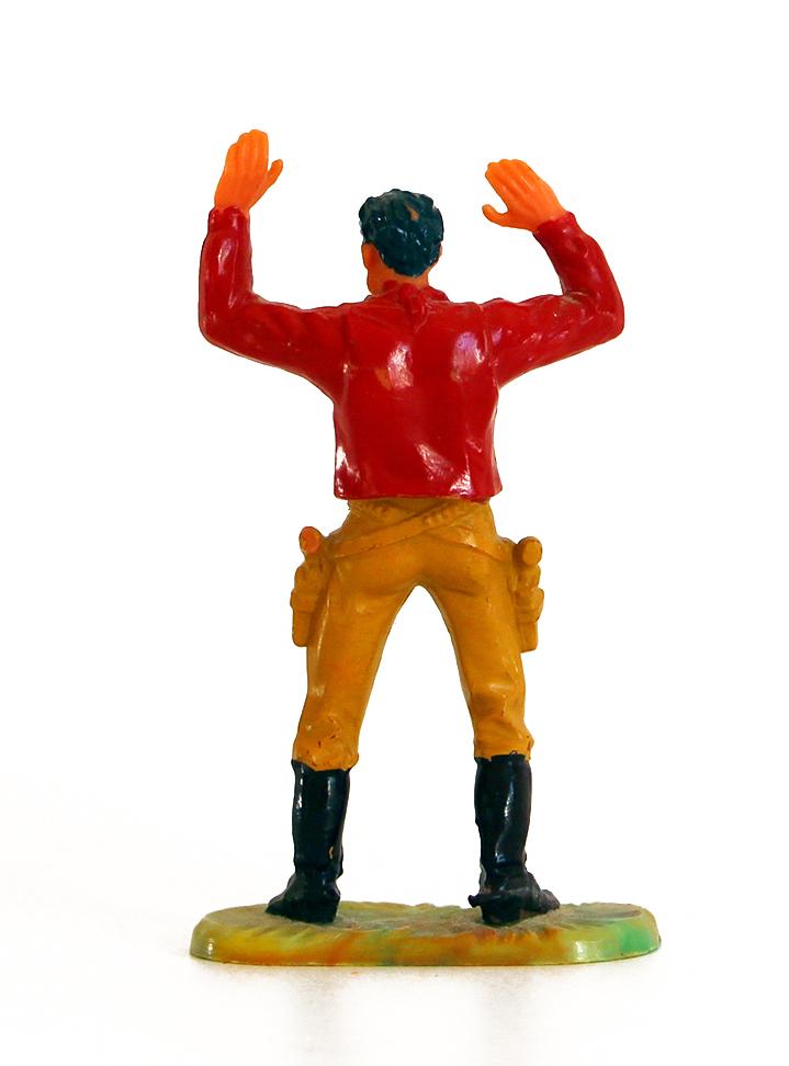 Ancienne Figurine Hausser Elastolin German plastic Cowboy Far West