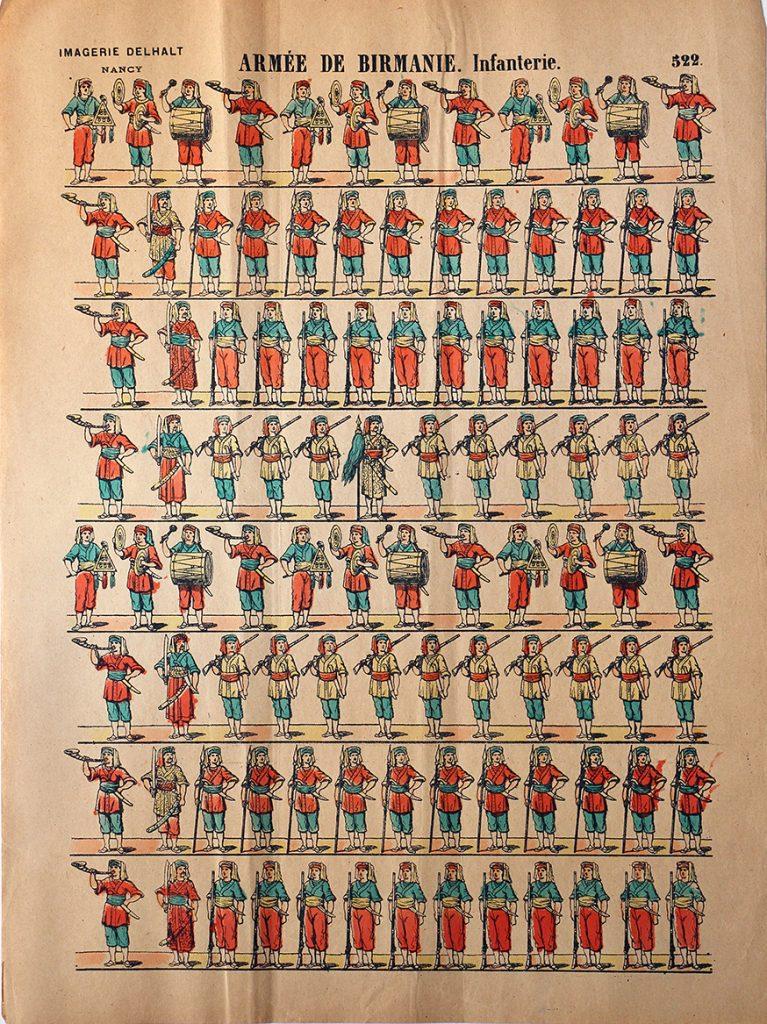 5 Planches Imagerie Dehalt Nancy - Imagerie Populaire - N°256/255/254/522/519 - Tribu du Fleuve des Amazones - Mozambique - Indienne - Birmanie - Zoulous