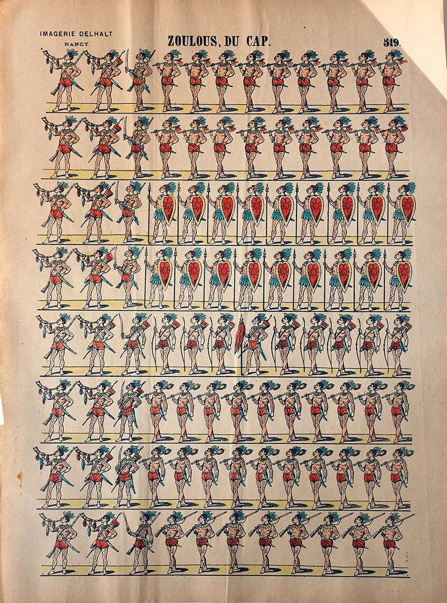 3 Planches Imagerie Dehalt Nancy - Imagerie Populaire - N°256/255/254 - Tribu du Fleuve des Amazones - Mozambique - Indienne
