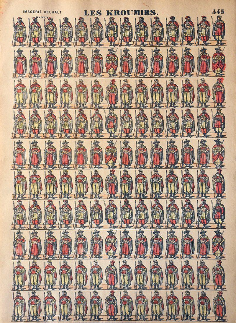 Planche Imagerie Dehalt Nancy - Imagerie Populaire - N°545 - Les Kroumirs