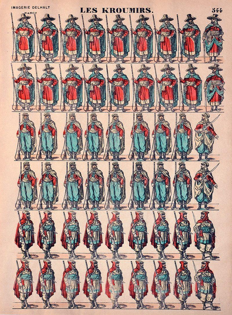 Planche Imagerie Dehalt Nancy - Imagerie Populaire - N°544 - Les Kroumirs