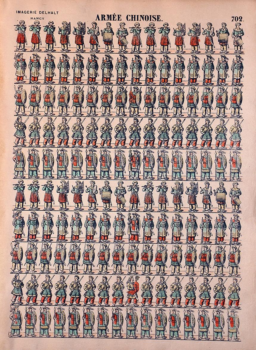 Planche Imagerie Dehalt Nancy - Imagerie Populaire - N°702 - Armée Chinoise
