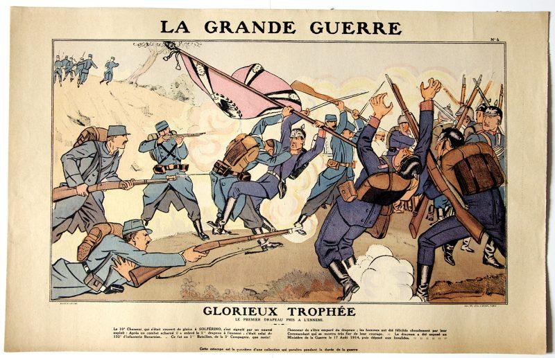 3 Planches imagerie Populaire - Guerre 14/18 - La Grande Guerre - Planche 3/4/9