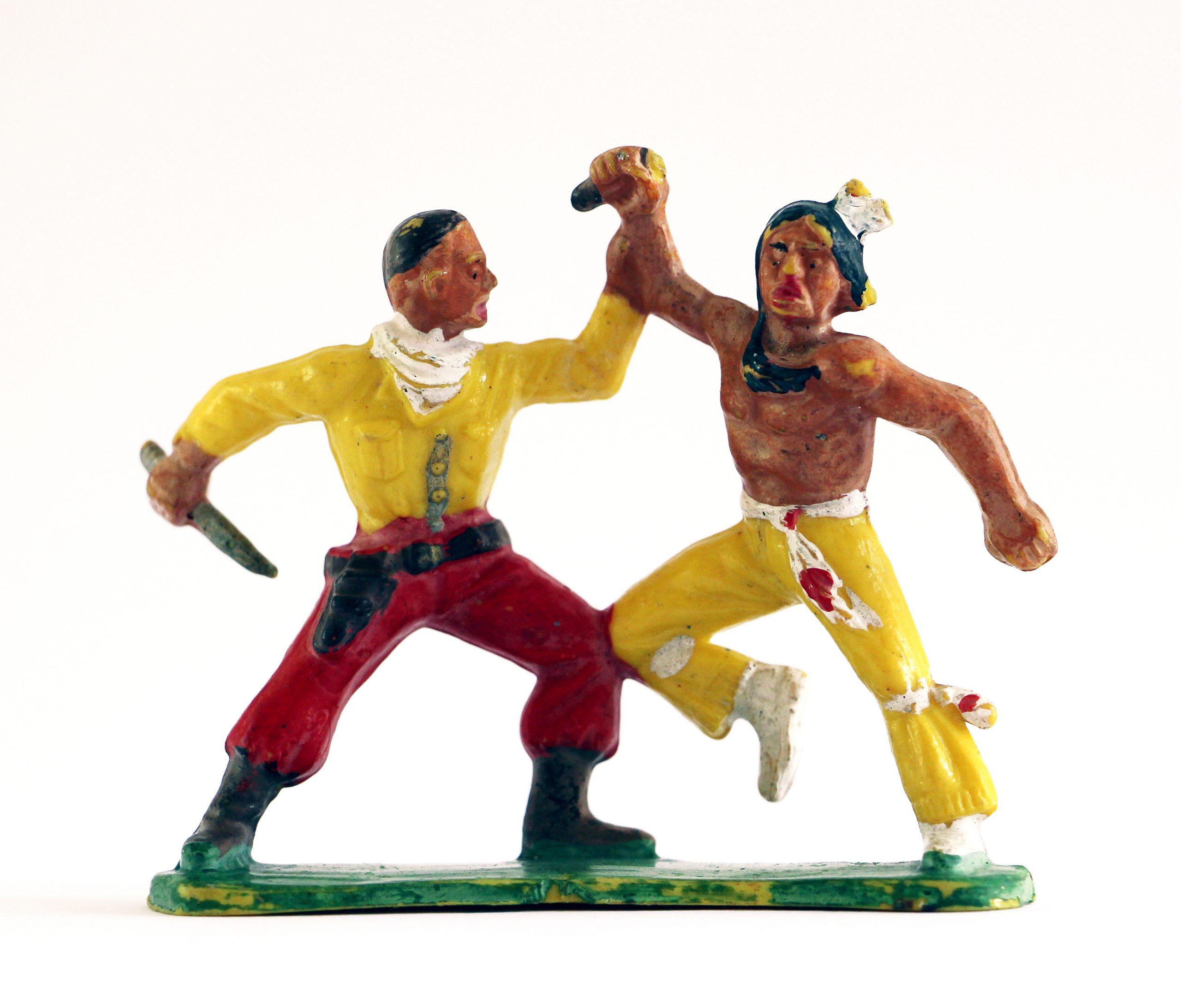 Figurine Starlux Indien Tam Tam Plaine Cowboy Combat