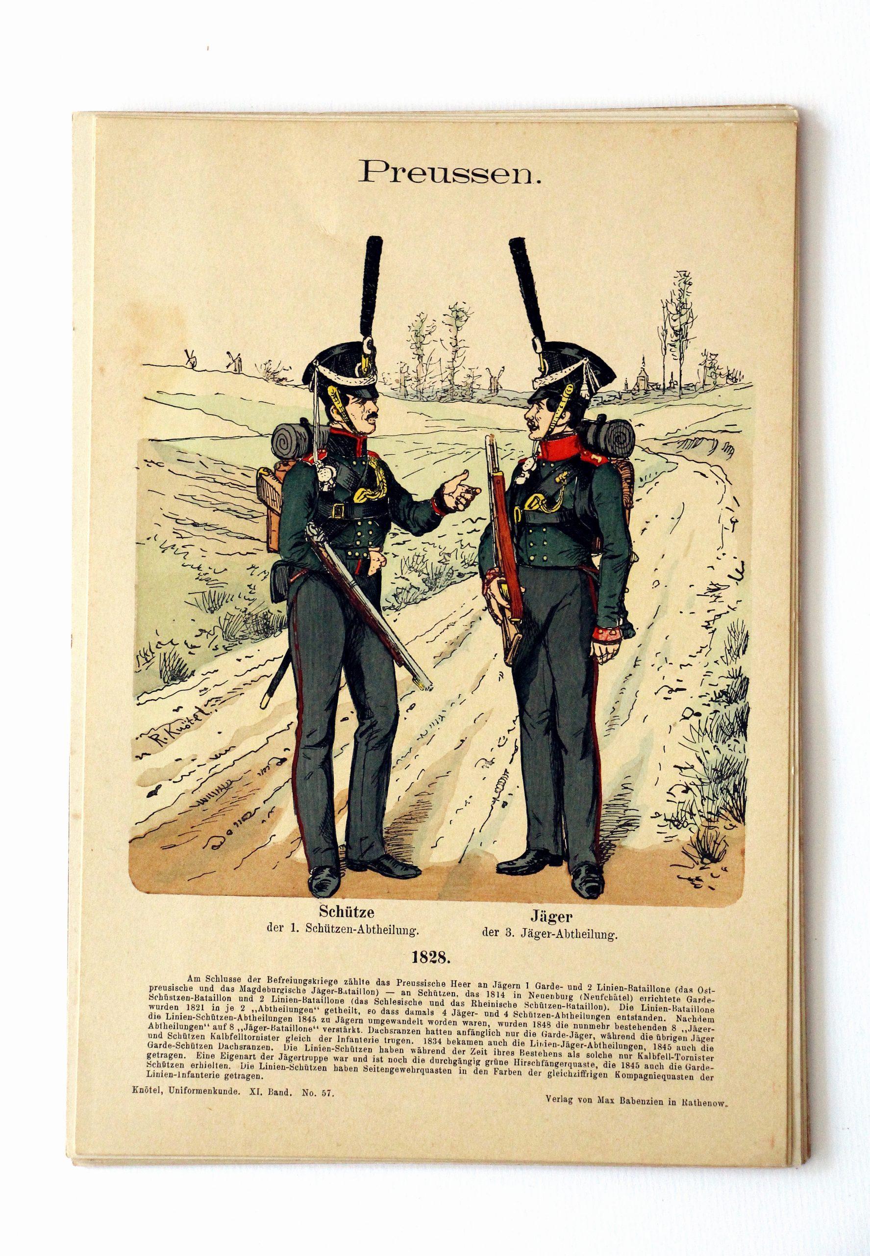 Preussen- Uniformenkunde - Richard Knoetel - XI - Planche 57