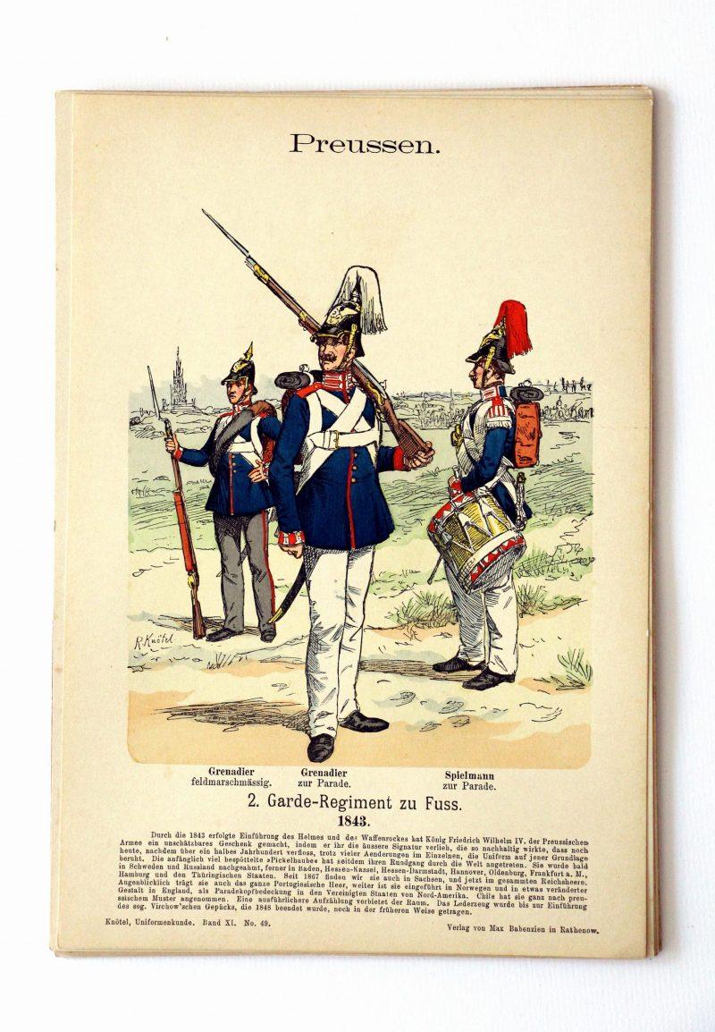 Preussen- Uniformenkunde - Richard Knoetel - XI - Planche 49