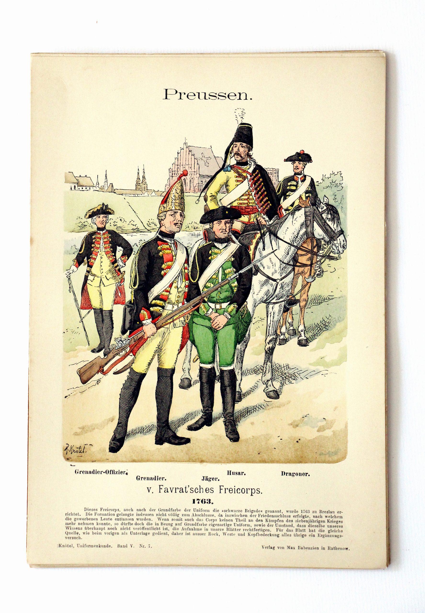Preussen- Uniformenkunde - Richard Knoetel - V - Planche 7