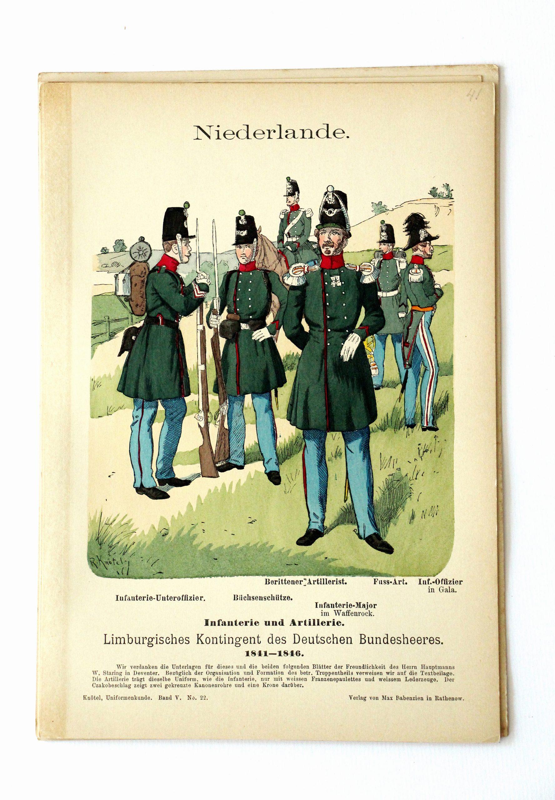 Niederlande- Uniformenkunde - Richard Knoetel - V - Planche 22