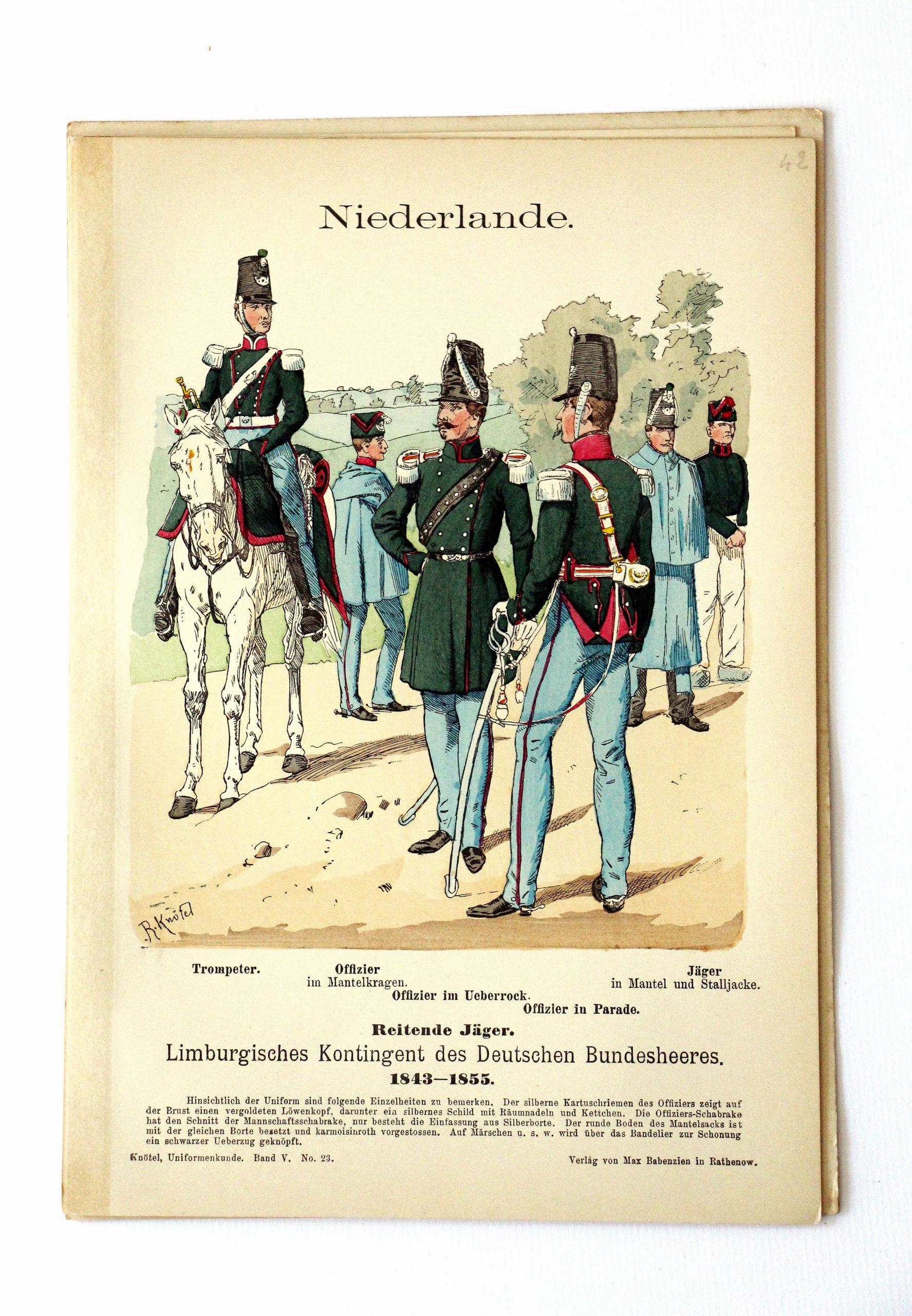 Niederlande- Uniformenkunde - Richard Knoetel - V - Planche 23