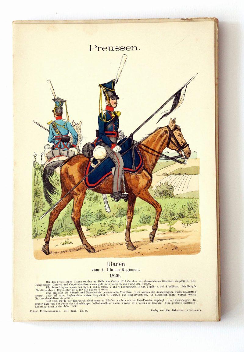 Preussen - Uniformenkunde - Richard Knoetel - VIII - Planche 2