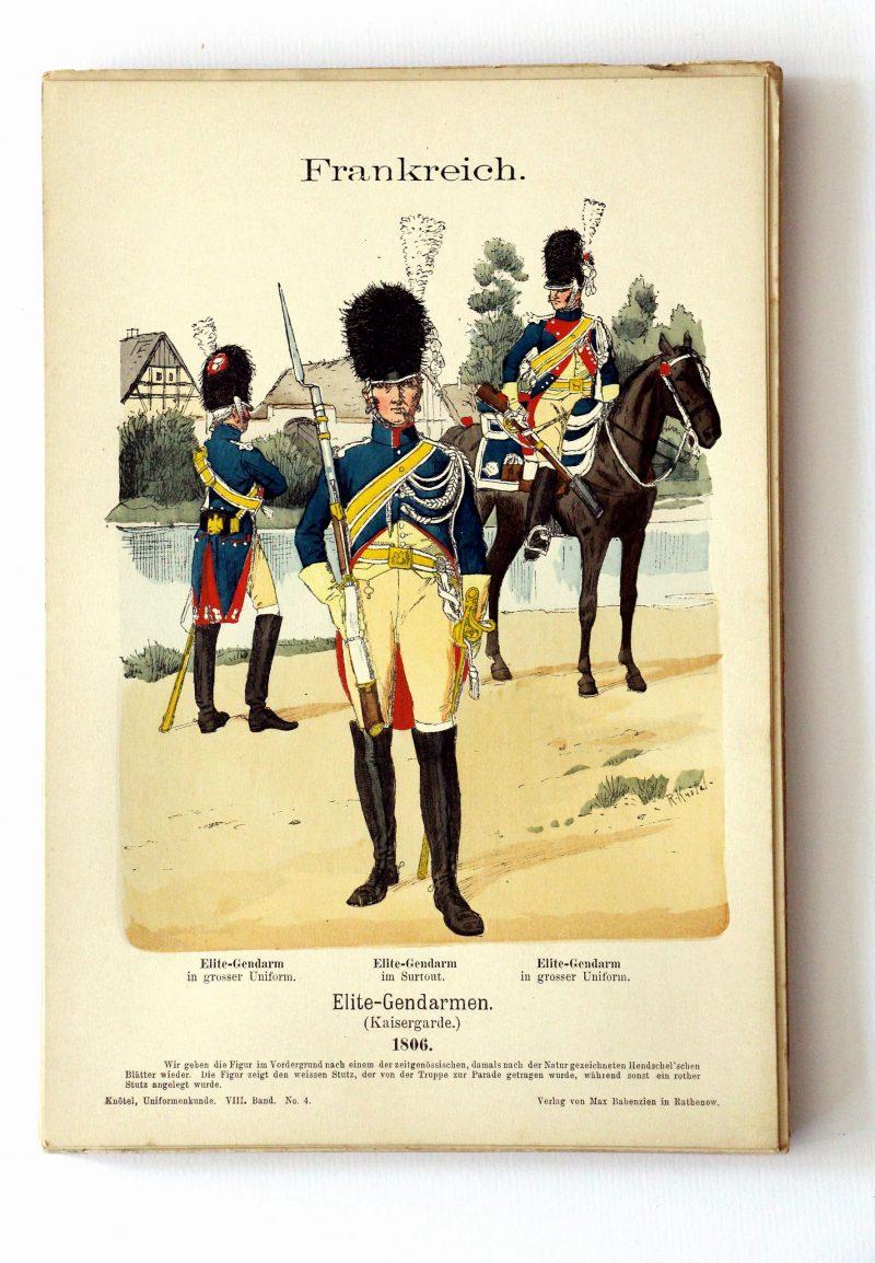 Frankreich - Uniformenkunde - Richard Knoetel - VIII - Planche 4