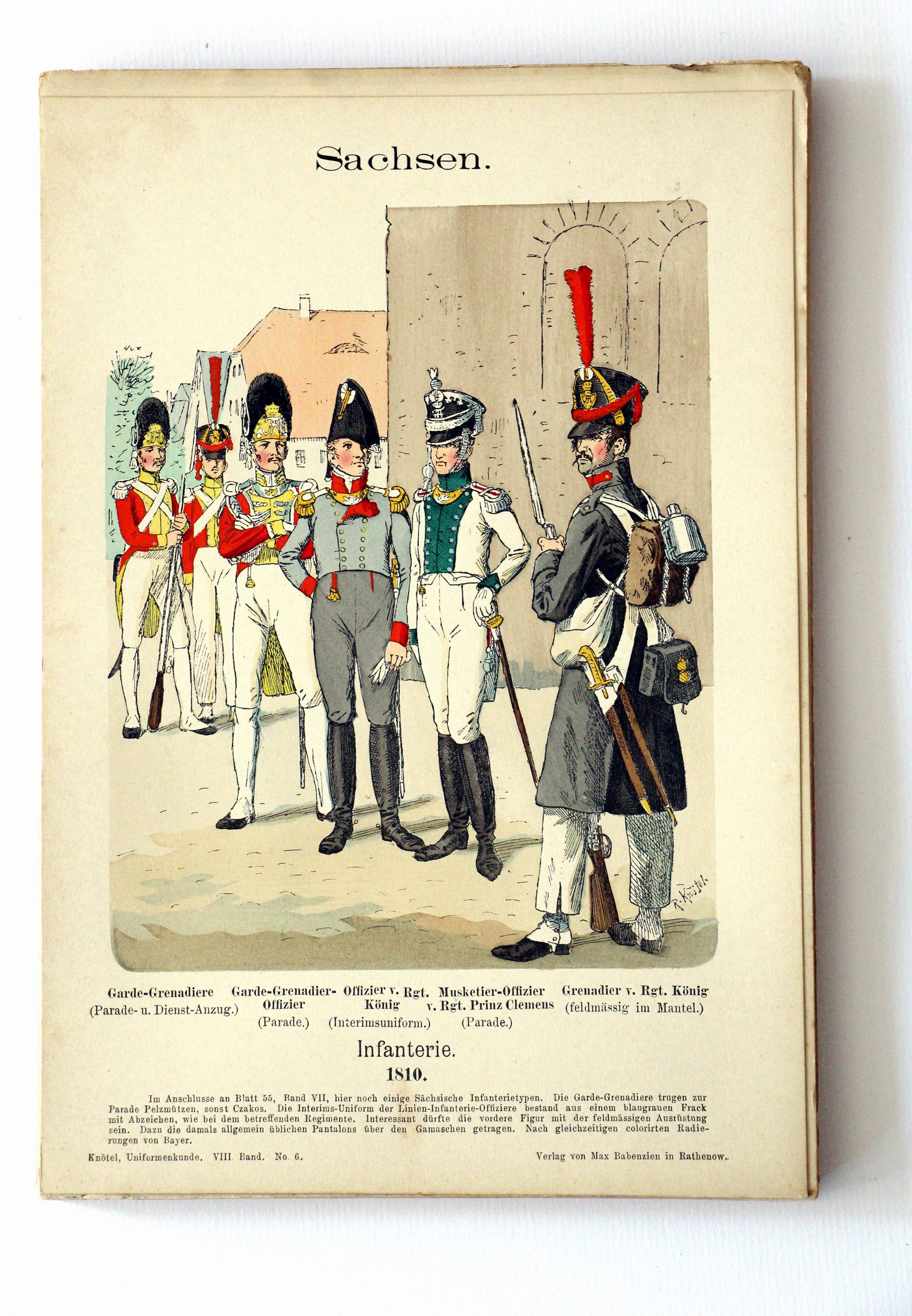 Sachsen - Uniformenkunde - Richard Knoetel - VIII - Planche 6