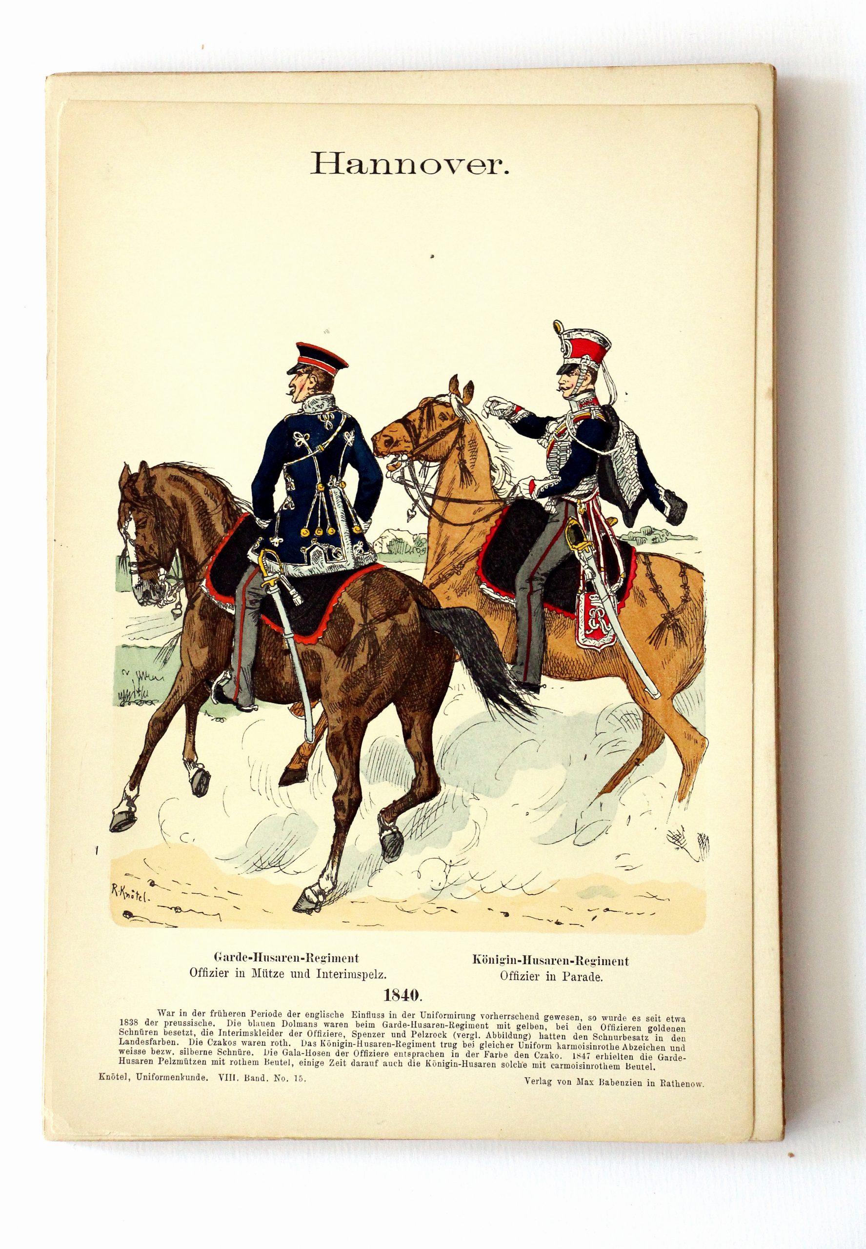 Hannover - Uniformenkunde - Richard Knoetel - VIII - Planche 15