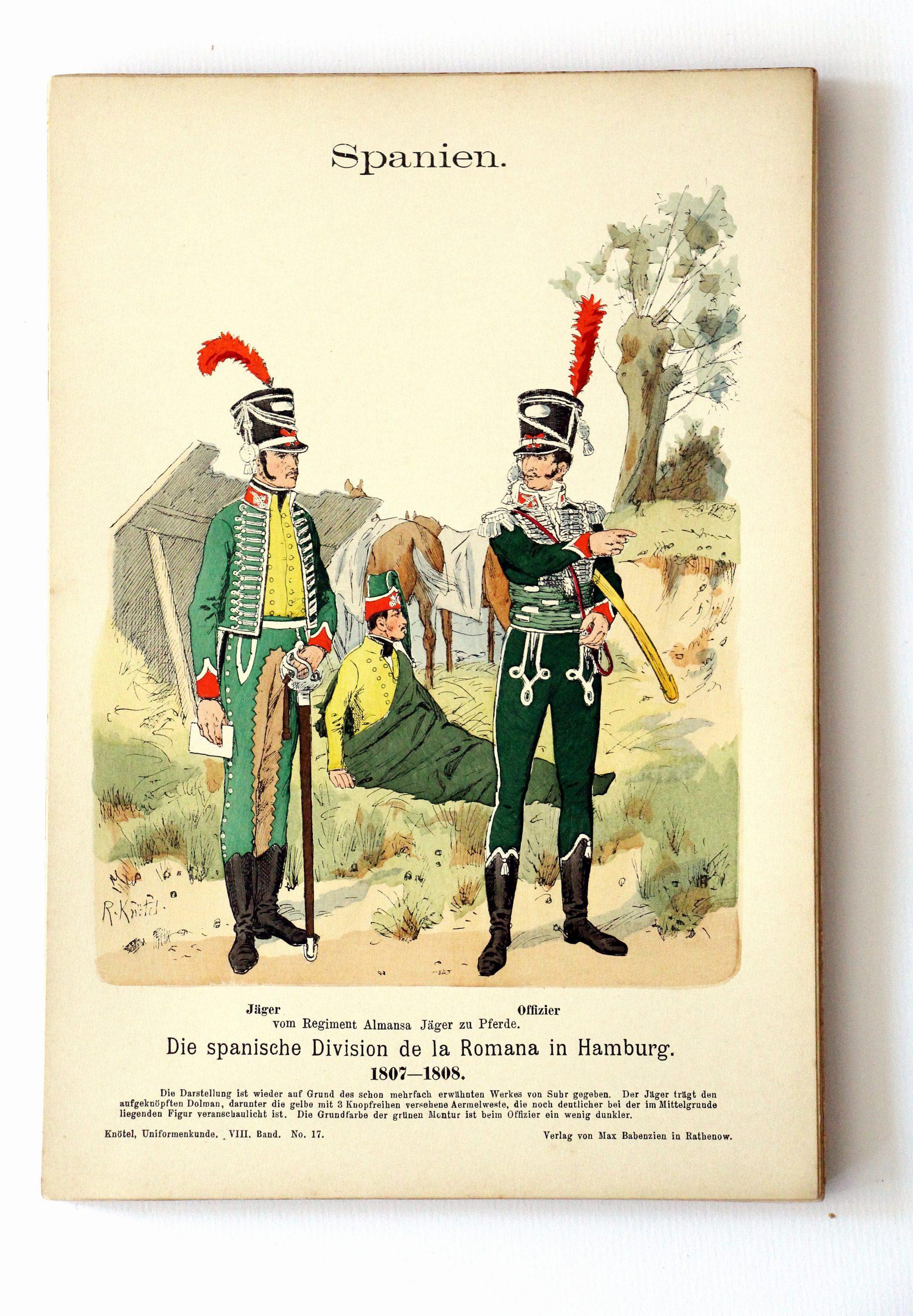 Spanien- Uniformenkunde - Richard Knoetel - VIII - Planche 17