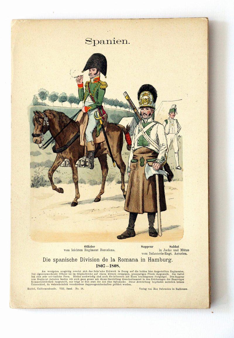 Spanien- Uniformenkunde - Richard Knoetel - VIII - Planche 18