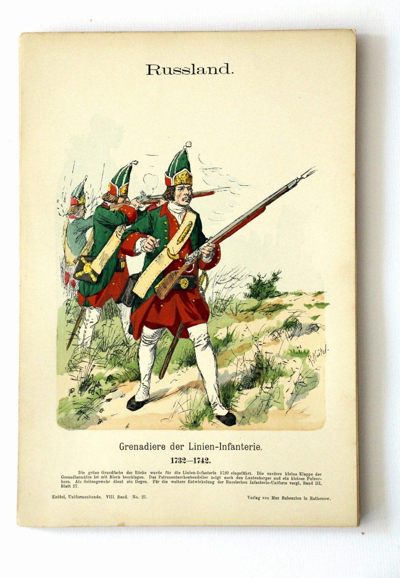 Russland - Uniformenkunde - Richard Knoetel - VIII - Planche 25