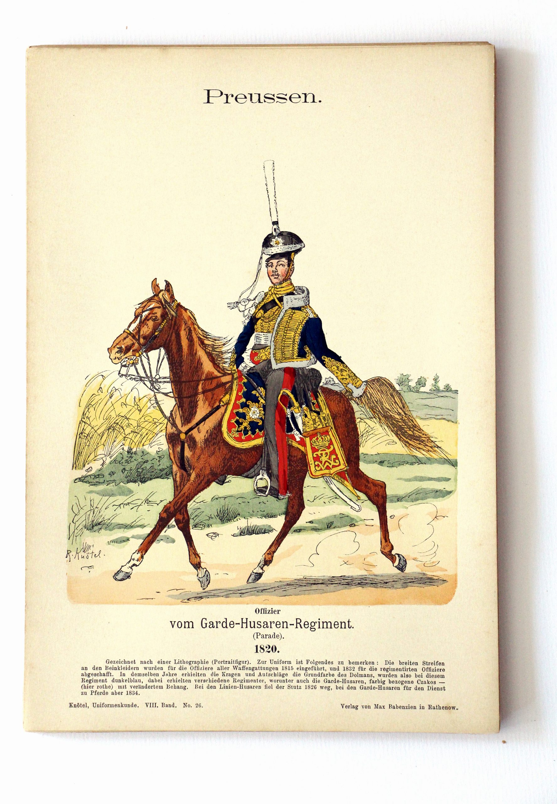 Preussen - Uniformenkunde - Richard Knoetel - VIII - Planche 26