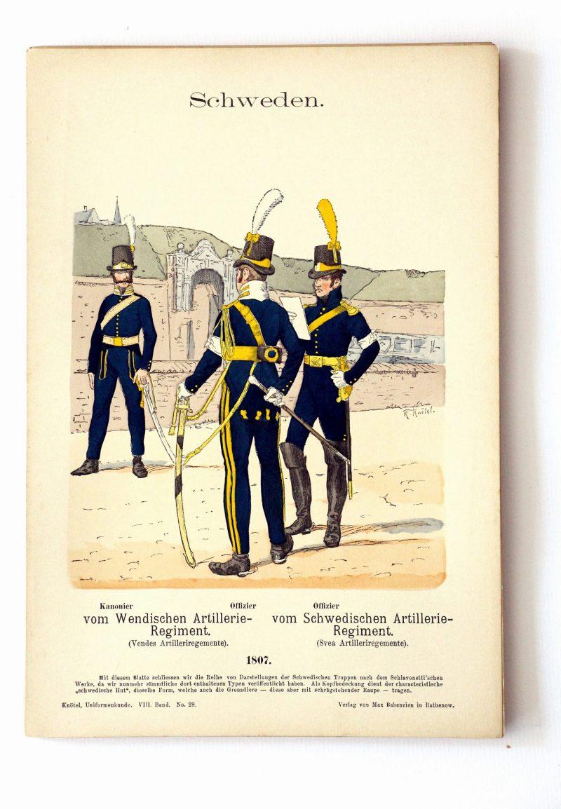 Schweden - Uniformenkunde - Richard Knoetel - VIII - Planche 28