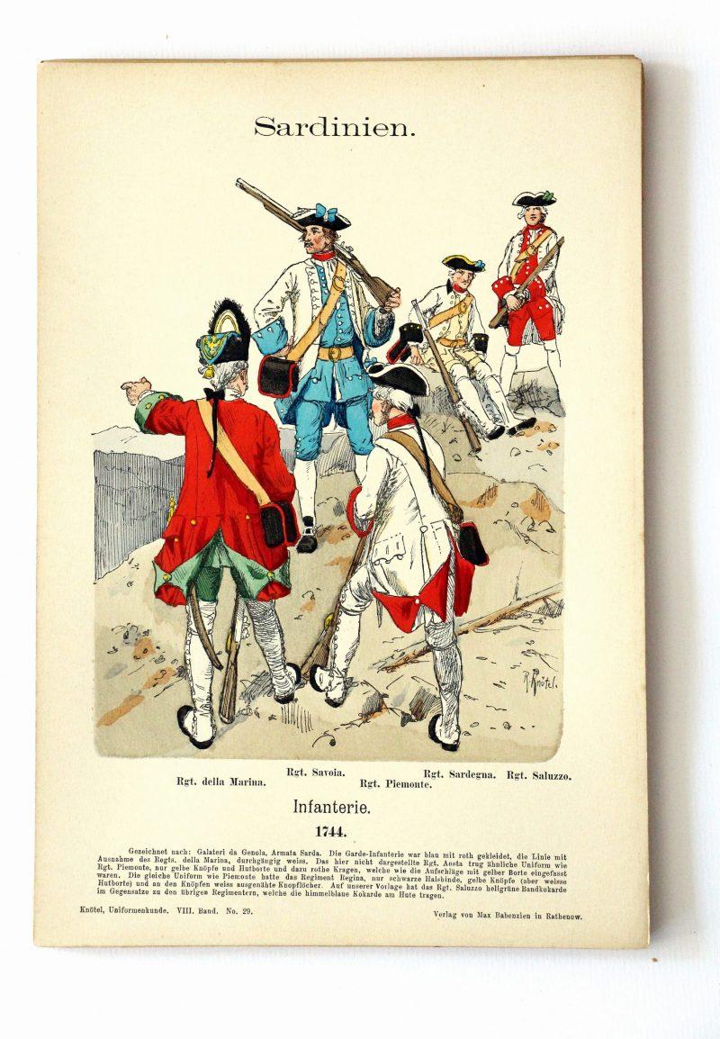 Sardinien - Uniformenkunde - Richard Knoetel - VIII - Planche 29