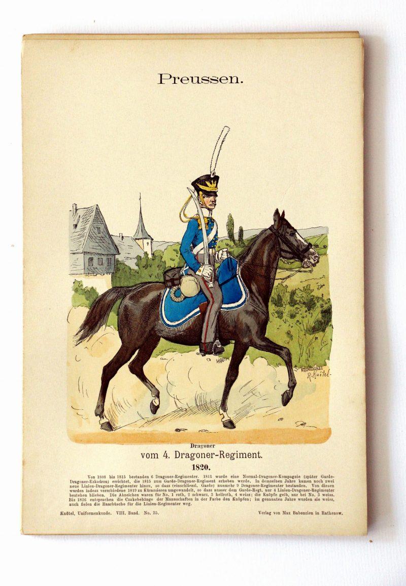 Preussen - Uniformenkunde - Richard Knoetel - VIII - Planche 35