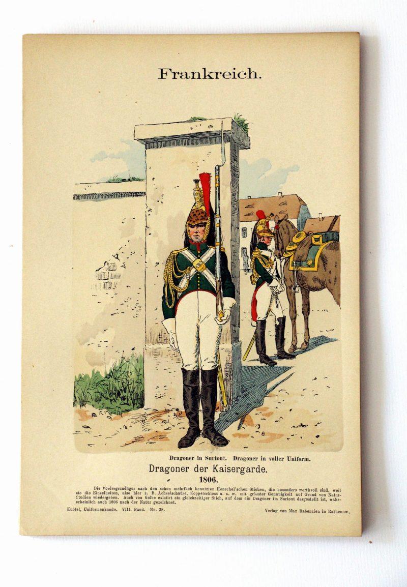 Frankreich - Uniformenkunde - Richard Knoetel - VIII - Planche 38