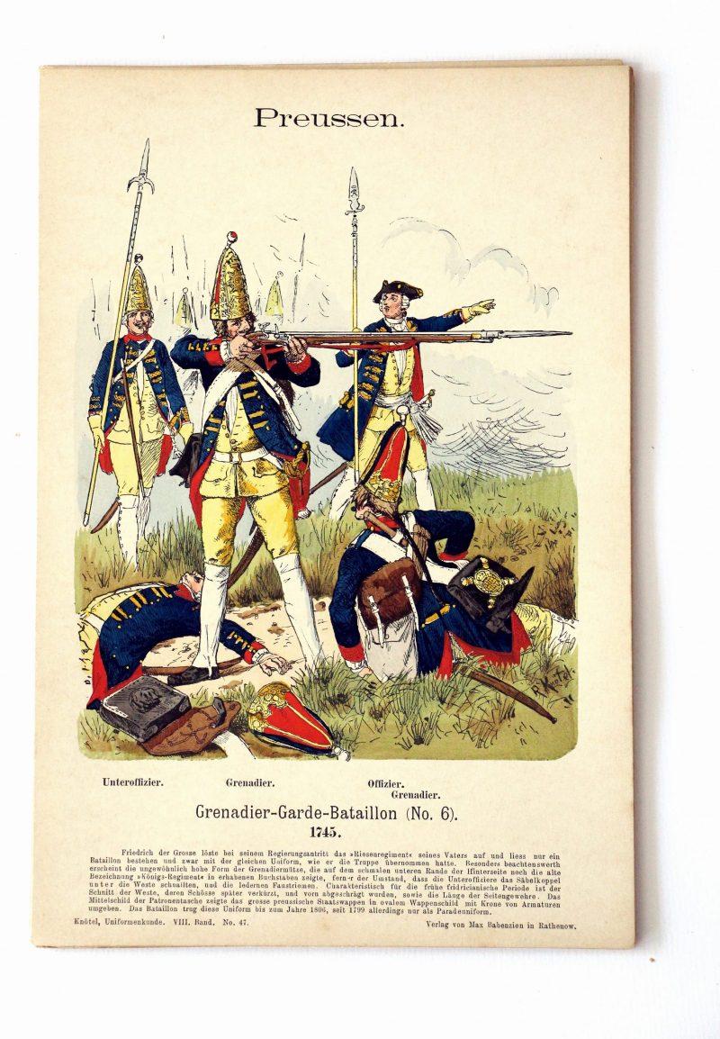 Preussen - Uniformenkunde - Richard Knoetel - VIII - Planche 47