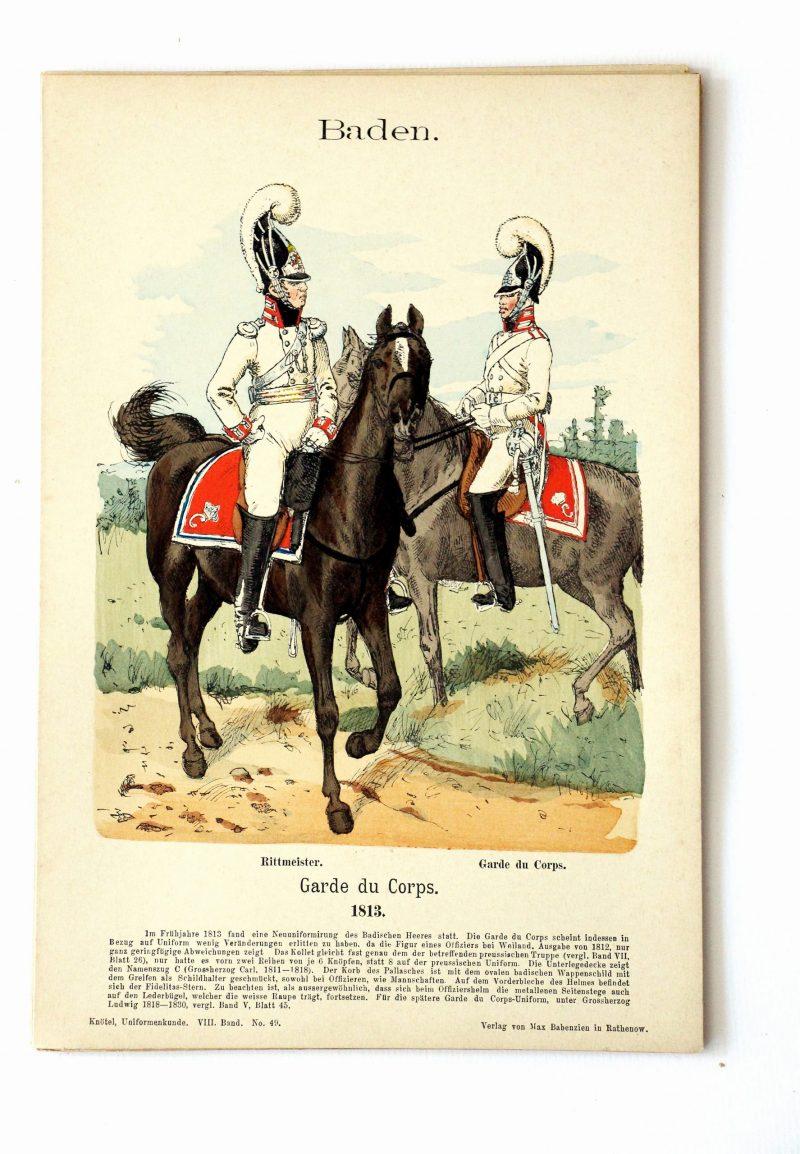 Baden - Uniformenkunde - Richard Knoetel - VIII - Planche 49