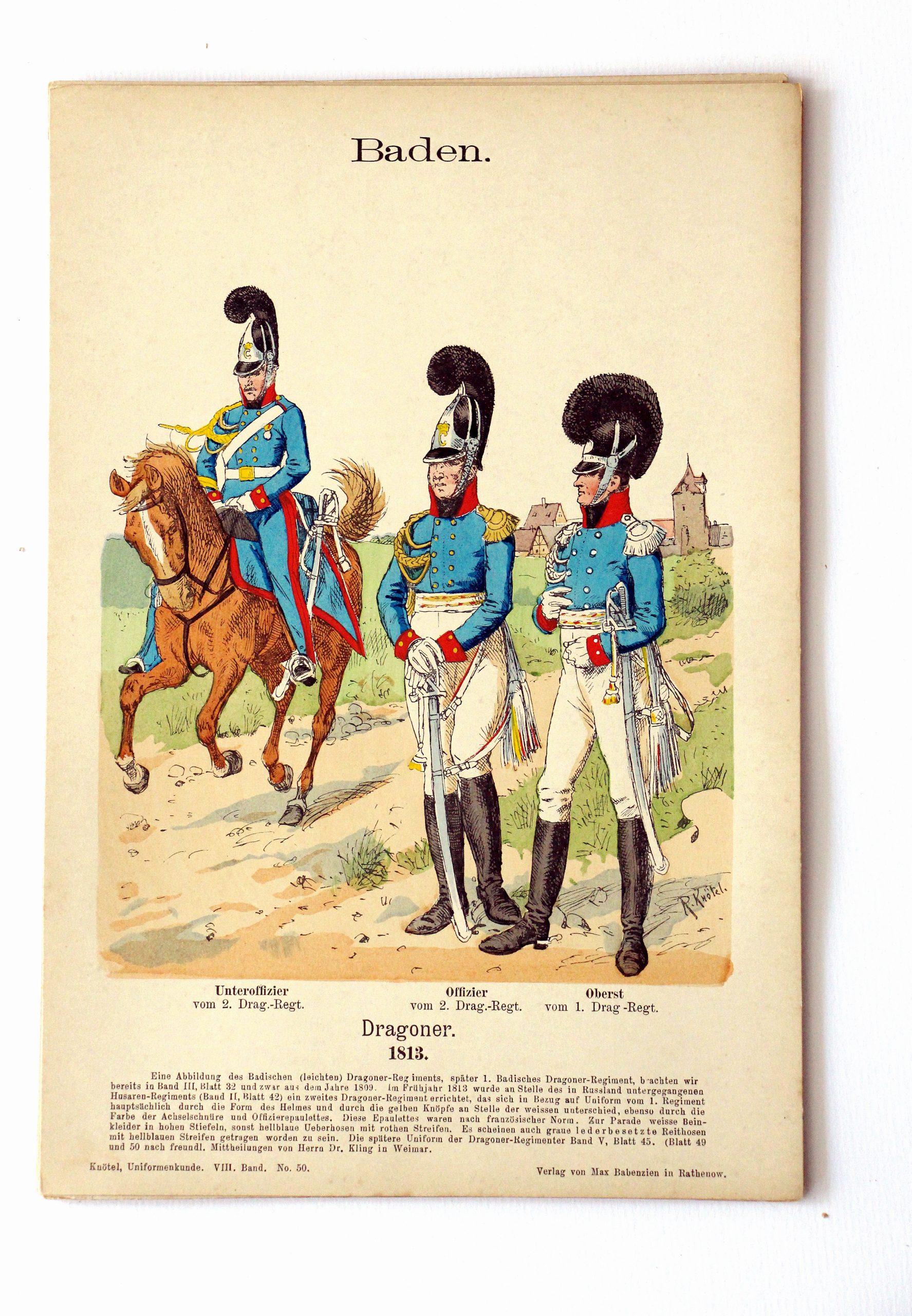 Baden - Uniformenkunde - Richard Knoetel - VIII - Planche 50