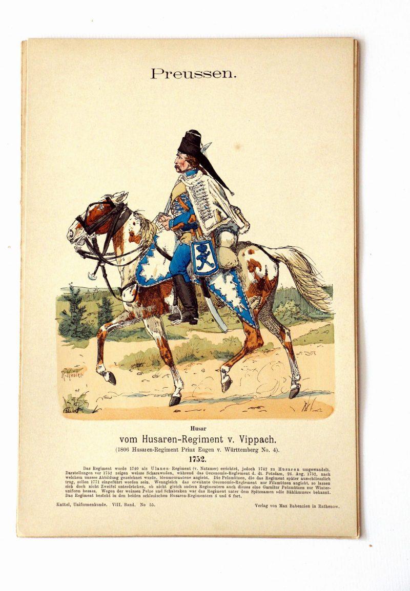 Preussen - Uniformenkunde - Richard Knoetel - VIII - Planche 55