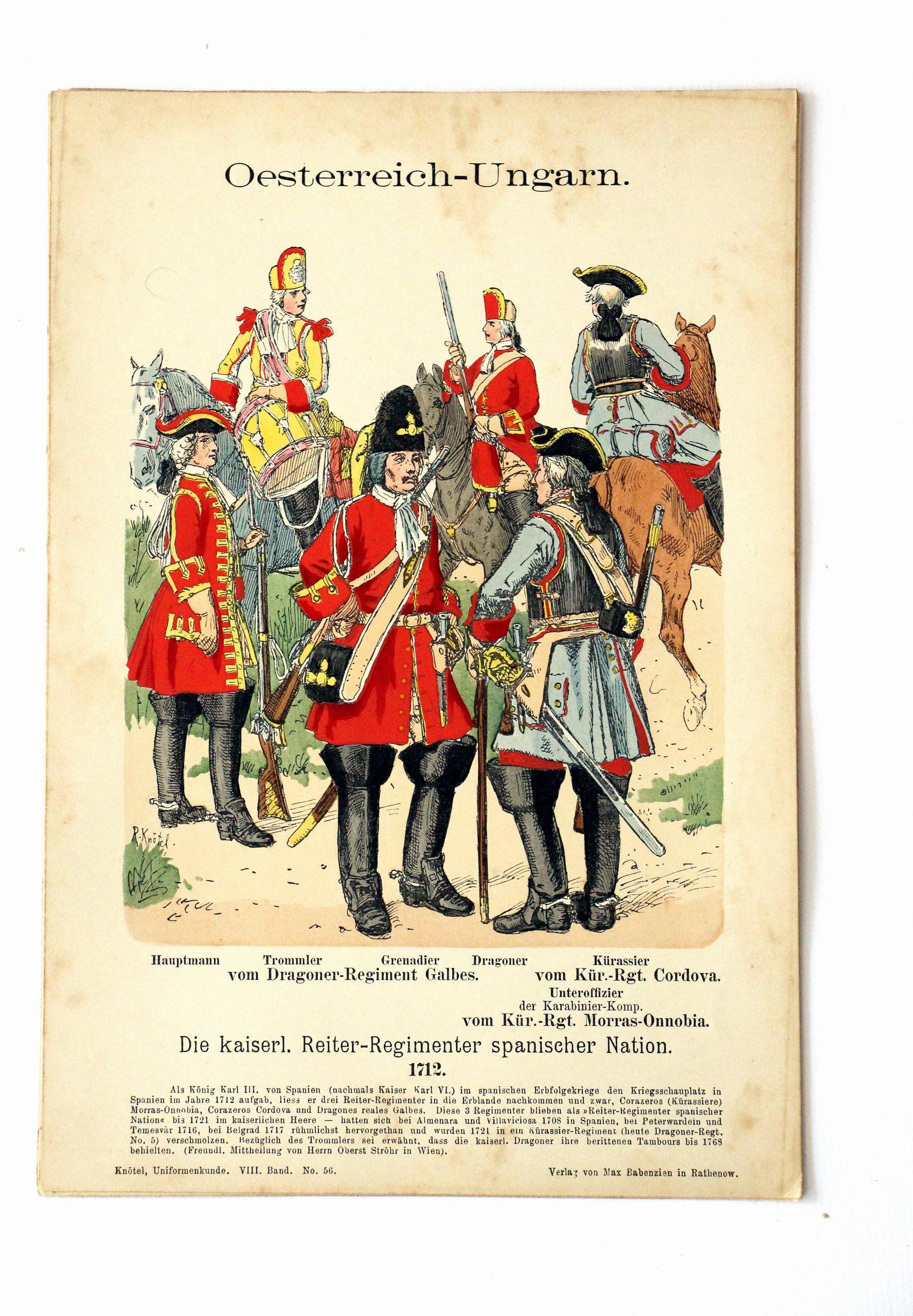 Oesterreich - Ungarn - Uniformenkunde - Richard Knoetel - VIII - Planche 56