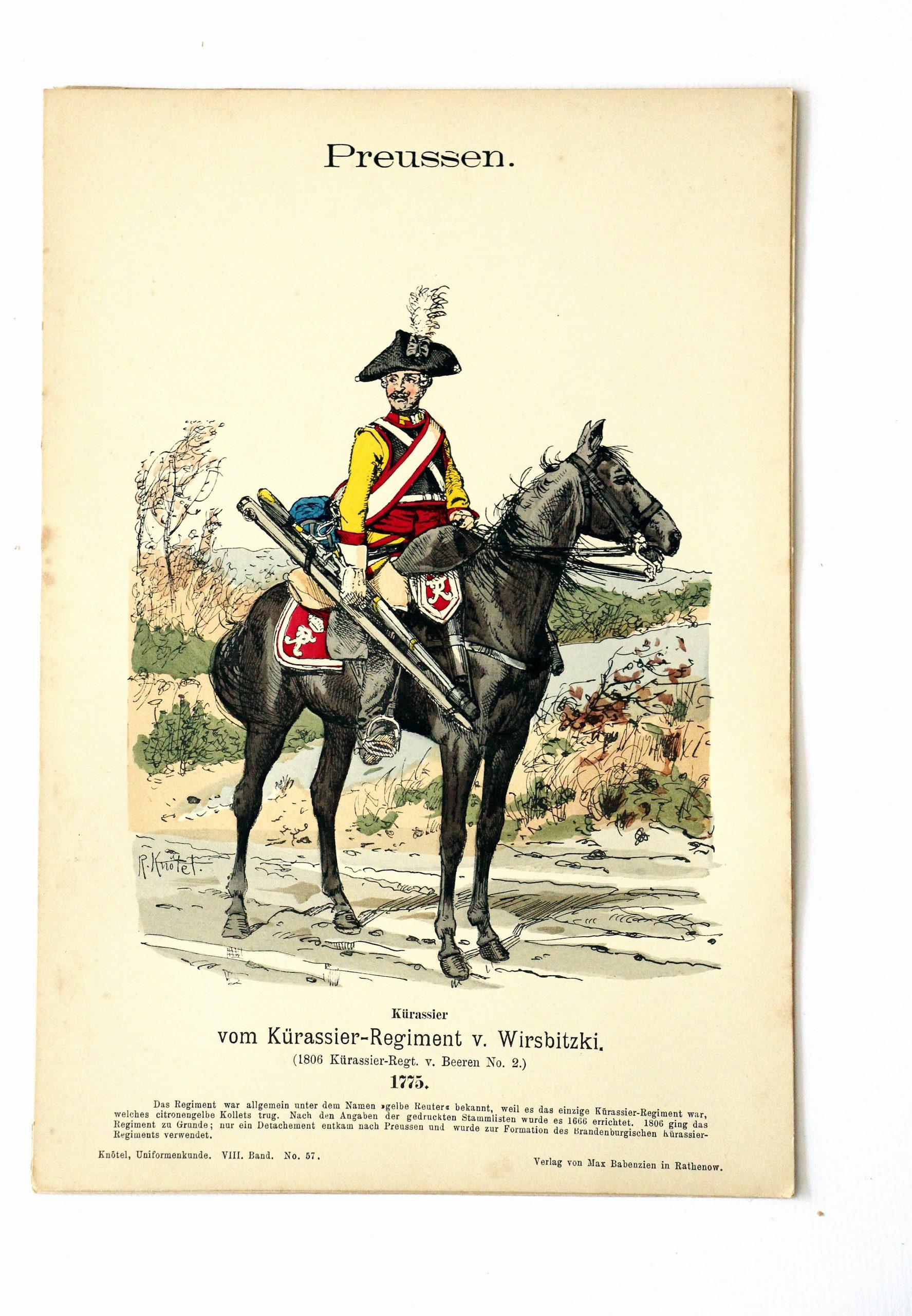 Preussen - Uniformenkunde - Richard Knoetel - VIII - Planche 57