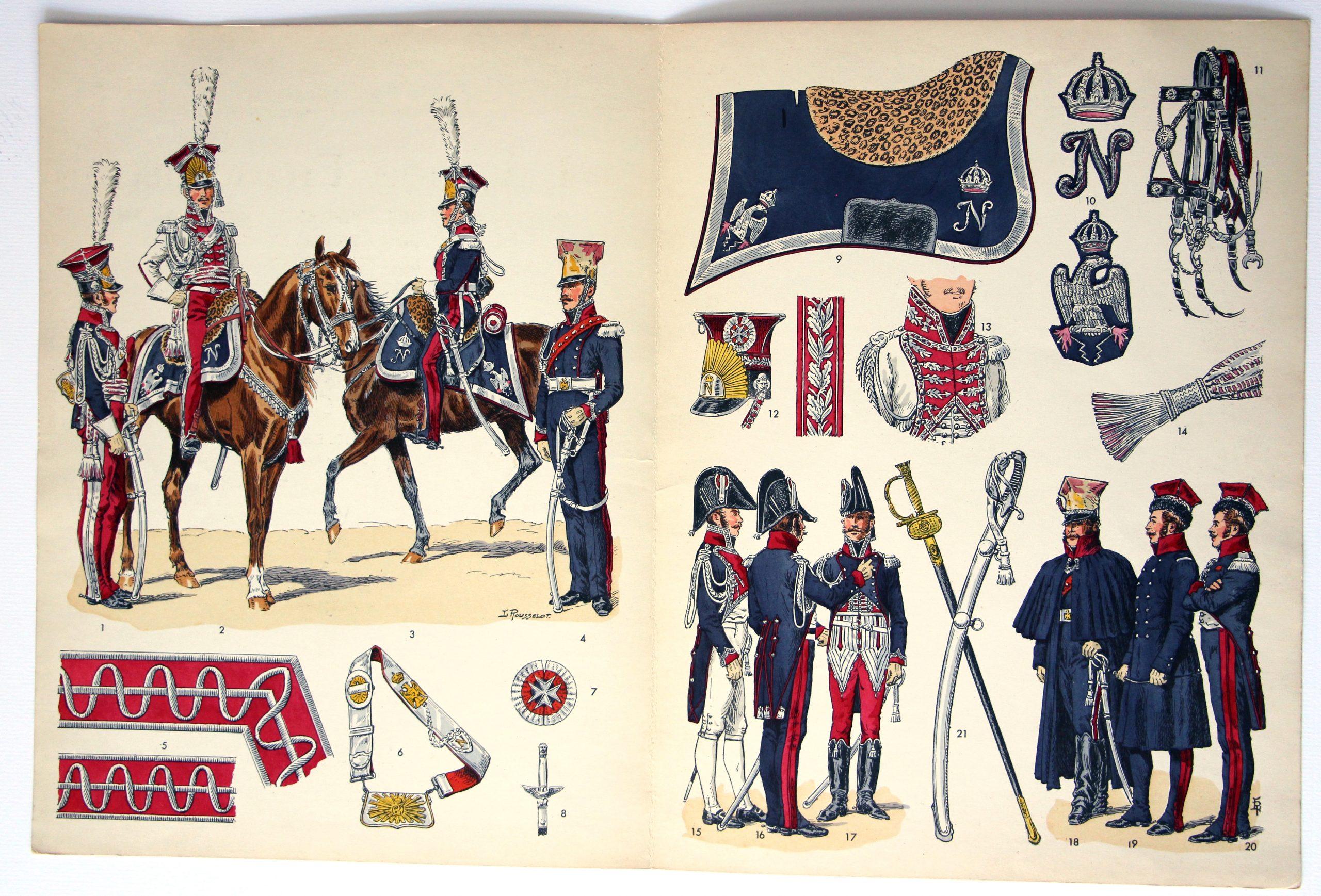 Planche sur l'armée Française N°75 - Chevau-légers - Polonais de la Garde Impériale - Lucien Rousselot