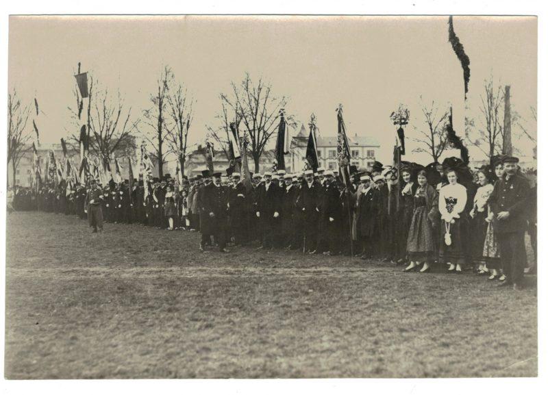 Ancienne Photographie Originale Libération de Strasbourg / Mulhouse 1918 - Visite de Clemenceau et Poincaré - 17 novembre 1918 / 9 Décembre 1918