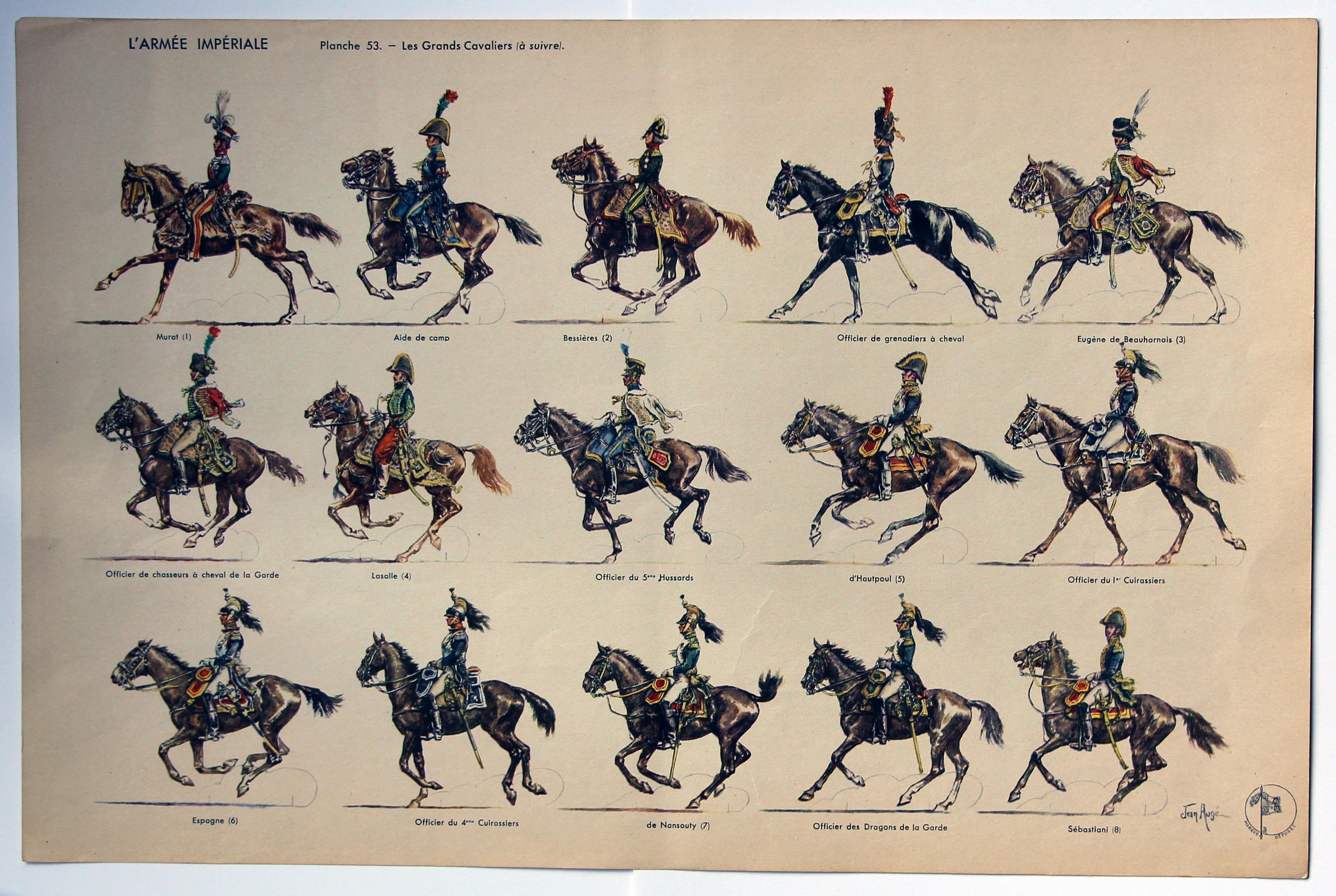 Petits Soldats - L'armée Impériale - 1804-1815 - Jean Augé- 8 Planches complet - Editions Jean Augé - Empire - Napoléon
