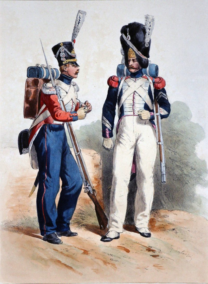 Gravures XIX - Lalaisse - Restauration - Uniforme - Garde Royale - Régiment suisse - Régiment de Grenadier - 1815/1830